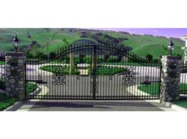90 Derece Açılan Bahçe Kapısı